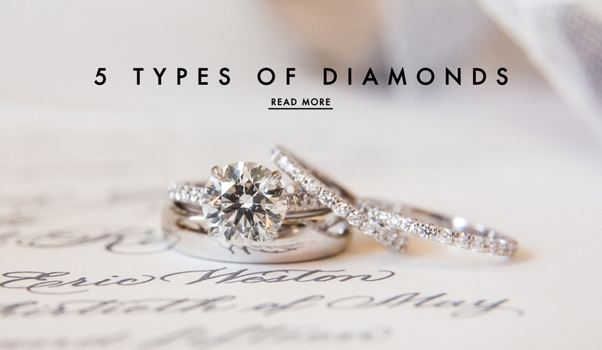 Diamond types and cuts for engagement rings