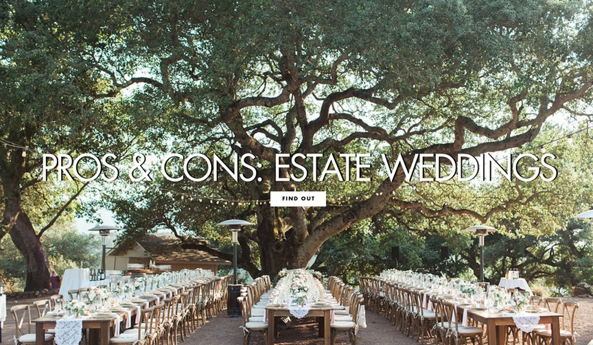 Pros and cons of having a wedding at an estate