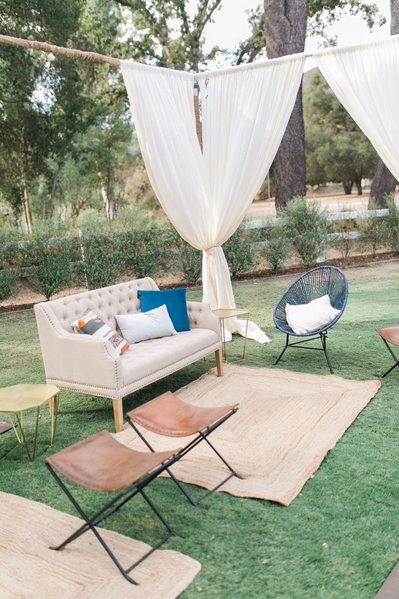 Shabby Chic Outdoor Lounge Area California Winter Wedding Styled Shoot Brookview Ranch Rustic Boho