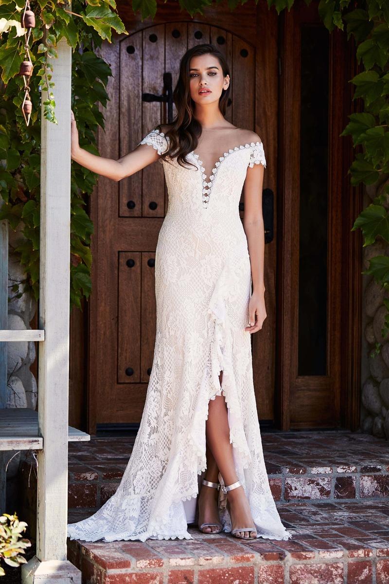 Wedding Dresses Photos - BEL18881LBR by Tadashi Shoji - Inside Weddings