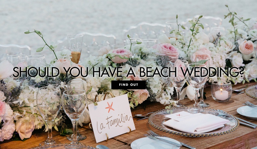 how to plan a beach wedding, what you need to know about planning a beach wedding