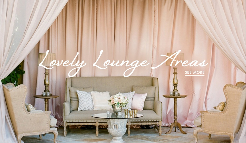 Wedding lounges ideas for reception and after party