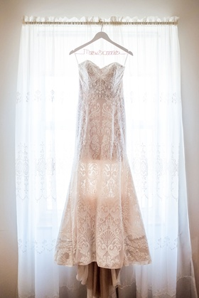Bride wedding dress embroidery lace gown dimitra's bridal couture