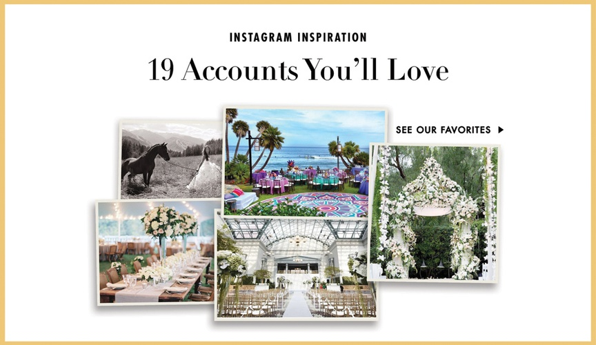 Wedding instagram inspiration ceremony and reception ideas