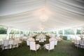 wedding garden party tented reception with lounge area