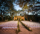 vizcaya museum and gardens wedding, nighttime wedding ceremony, jewish ceremony after sunset
