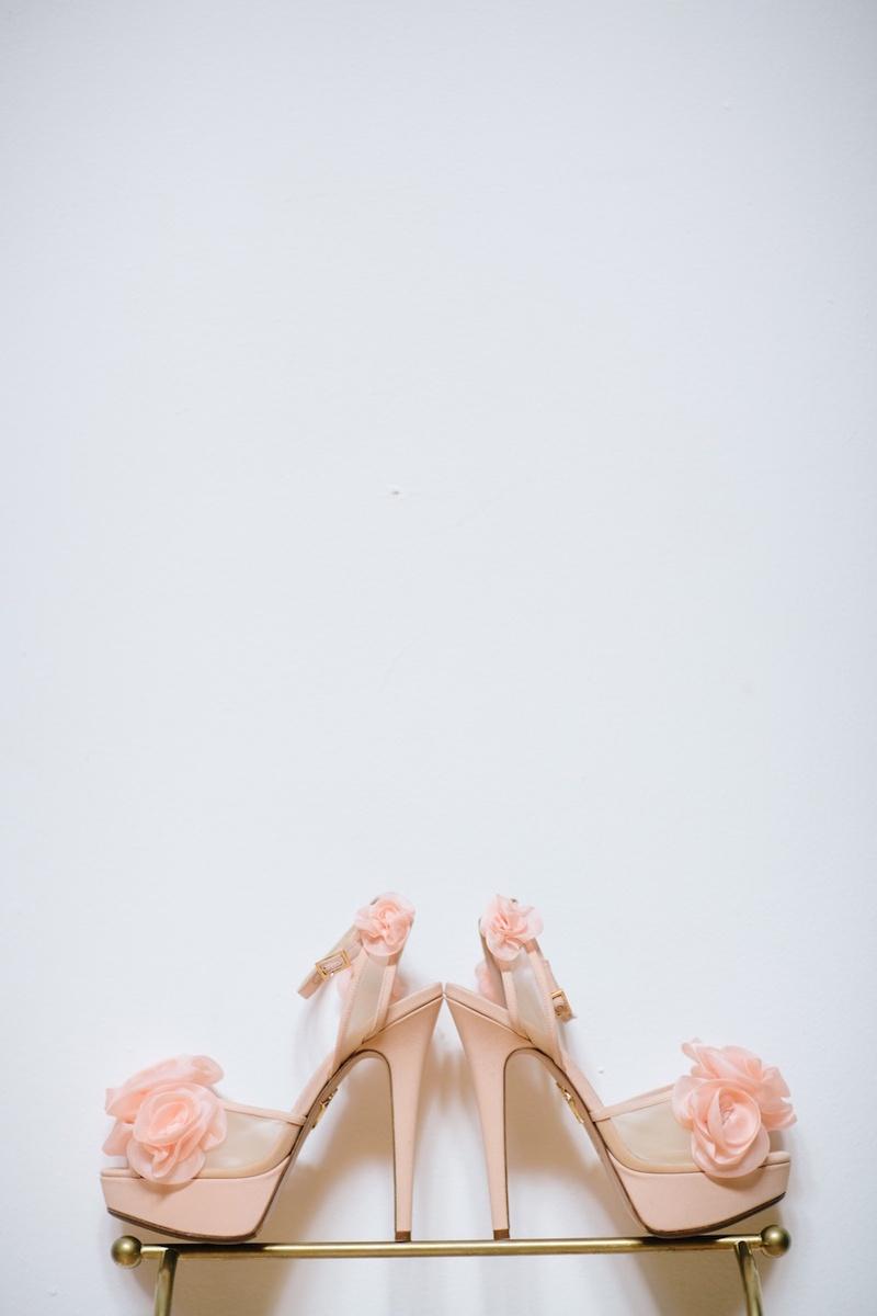 77fe65718704 Shoes   Bags Photos - Light Pink Bridal Heels - Inside Weddings