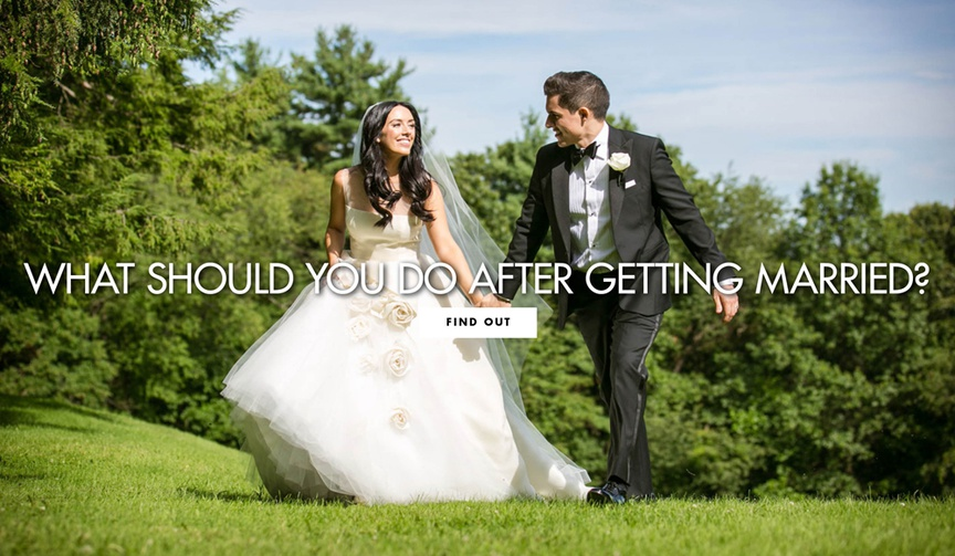 Find out what you should do after getting married your post wedding to do list