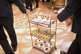 gourmet dessert cart at wedding at the drake hotel