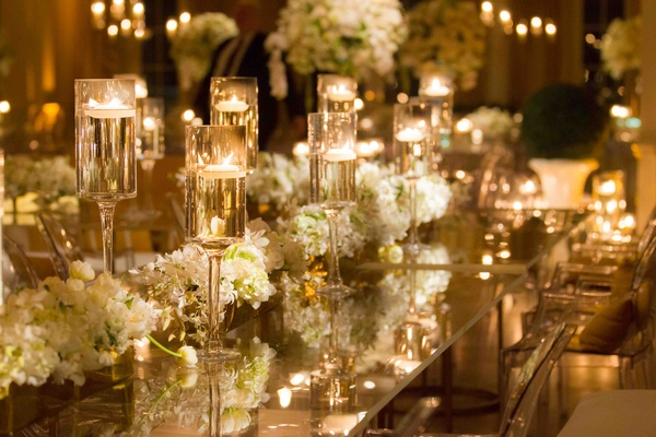 Lavish white gold country club wedding in houston texas inside white and gold wedding decorations with clear table junglespirit Choice Image