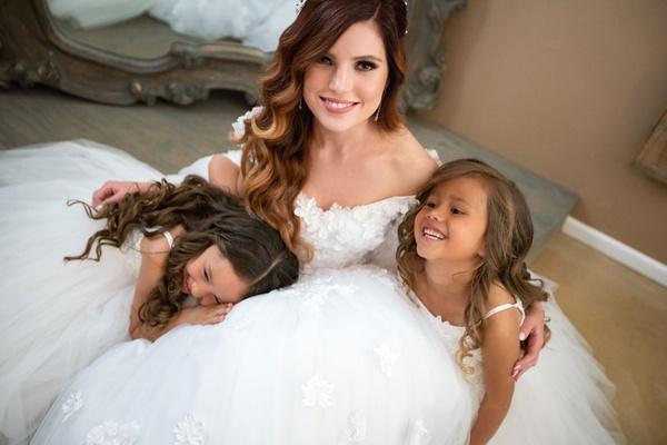 Echosmith singer Sydney Sierota wedding dress flower girls in white tulle dresses getting ready
