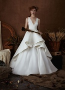 Isabelle Armstrong Spring 2018 bridal collection Liv organza v neck ball gown wedding dress