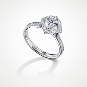 Furrer Jacot 53-66681-5-W platinum engagement ring