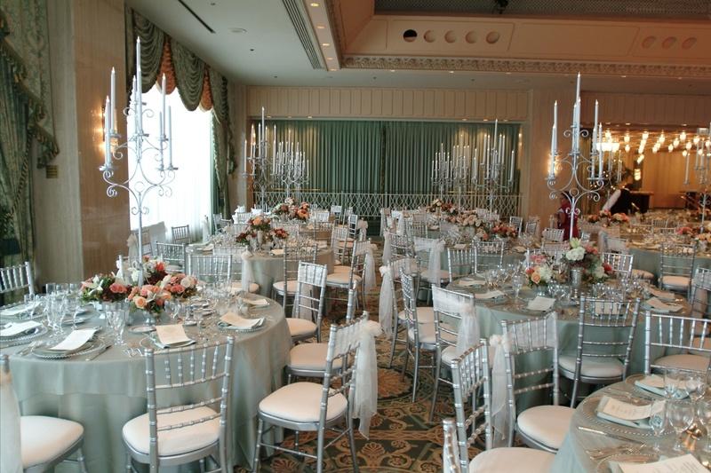 Reception Dcor Photos Classic Silver Metallic Wedding Dcor