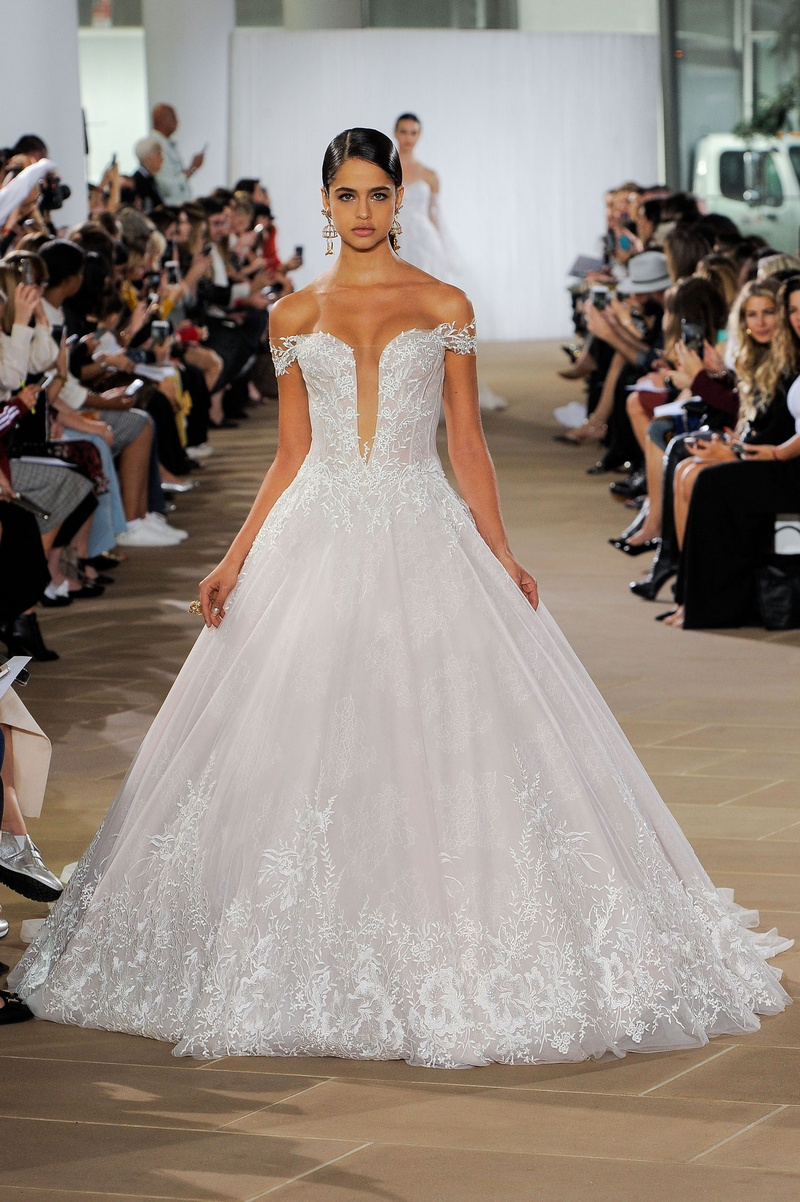 Ines Di Santo fall 2019 bridal collection wedding dress Ligela ball gown off-the-shoulder