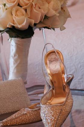 Designer pointed toe slingback heel