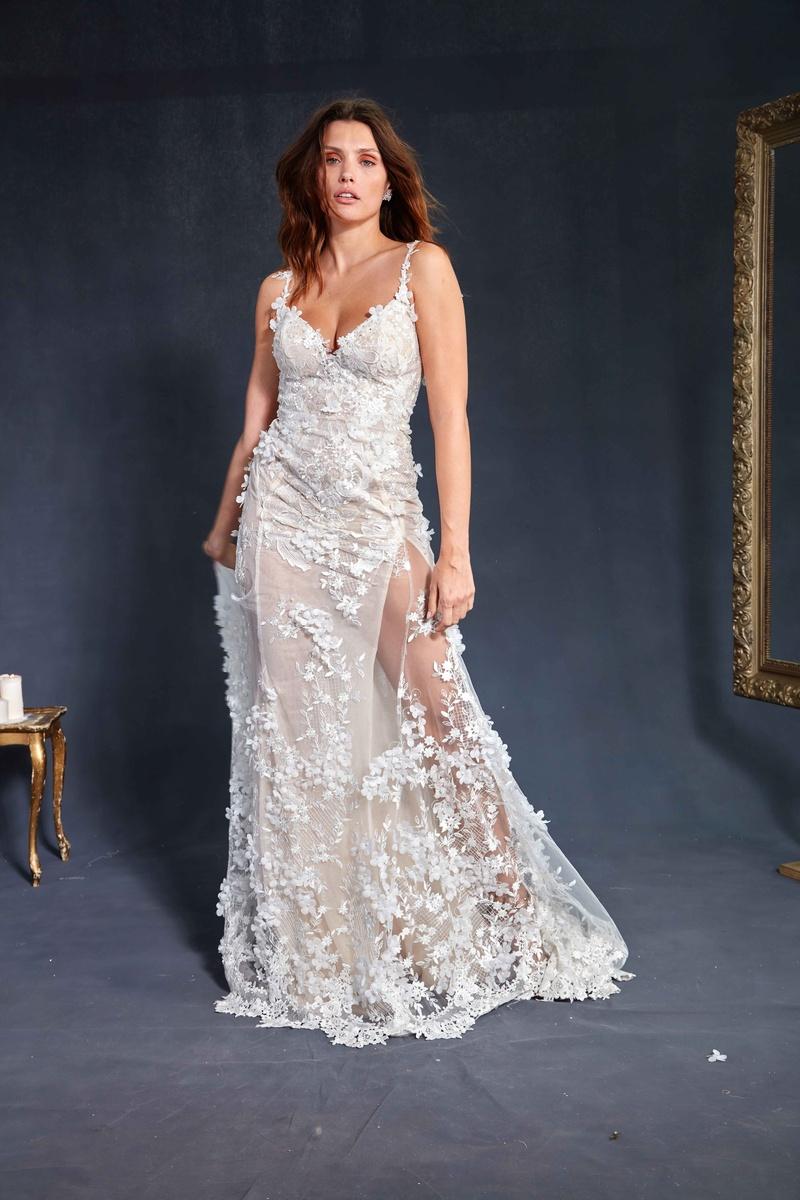 34baa40314d Galia Lahav Couture Le Secret Royal Part 2 Kira wedding dress pearl 3  dimensional flowers embroidery.