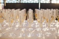 wedding escort cards in Champagne flutes