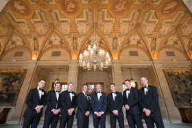 patrick wellington brown wedding, groom in hugo boss midnight tuxedo, the breakers palm beach