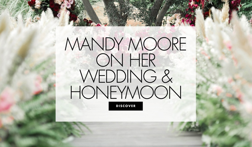 Mandy moore on her wedding and honeymoon details about the this is us star's backyard wedding