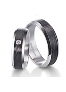 Furrer Jacot 71-29280 palladium and carbon fiber wedding band