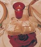 Je t'aime wedding favor package on place setting