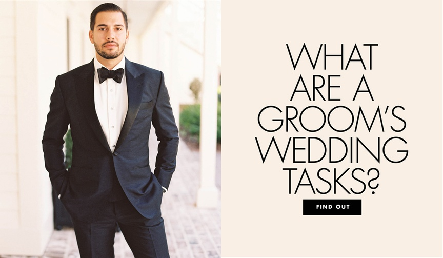 what are a groom's wedding tasks responsibilities for the groom while wedding planning