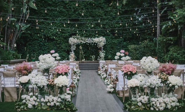 Rustic-Elegant Outdoor Ceremony + Luxe, Garden-Inspired