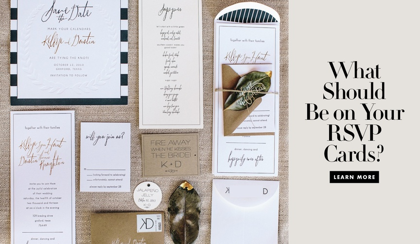 what information belongs on your wedding rsvp cards