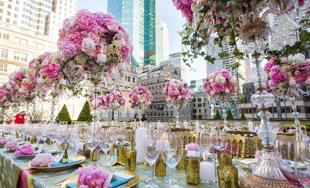 Rooftop garden nyc wedding bands