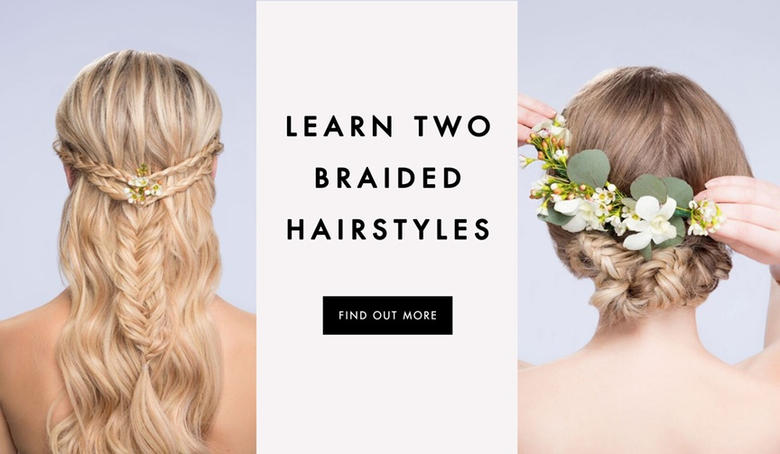 DIY two wedding hairstyles with braids