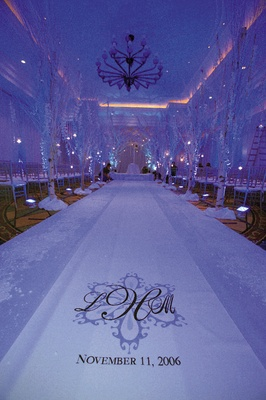 ... Purple and blue lighting and Original Runner Co. aisle ... & All-White Autumn Wedding at South Beach in Miami Florida - Inside ... azcodes.com