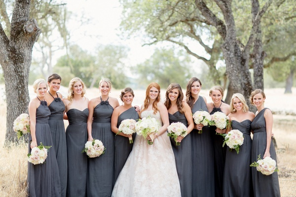 Dark Grey Bridesmaid Dresses - Dress Xy