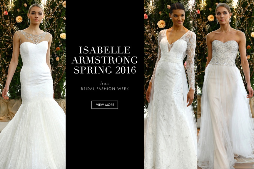 Isabelle Armstrong Spring 2016 Bridal Dress Collection