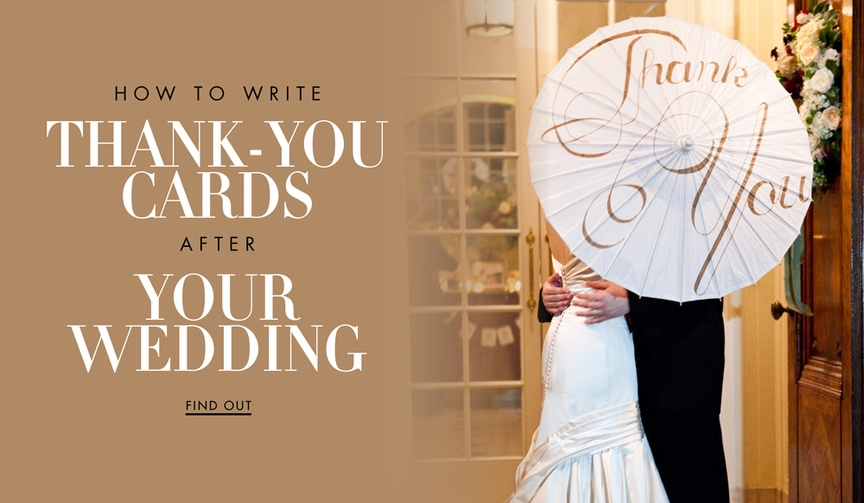 How to write a thoughtful and well put thank you note after the wedding