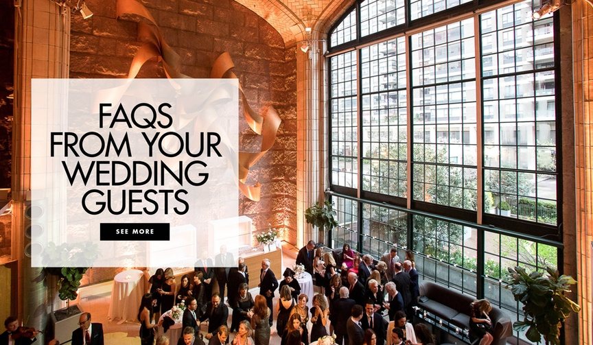 Consider addressing these topics with a FAQ section on your wedding website!