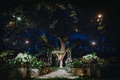 jewish wedding at night after sunset, outdoor nighttime wedding ceremony