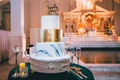 wedding cake at vibiana marble tier gold layer happily ever cake topper gold