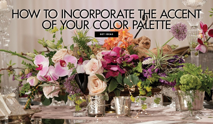 how to use an accent color in your wedding