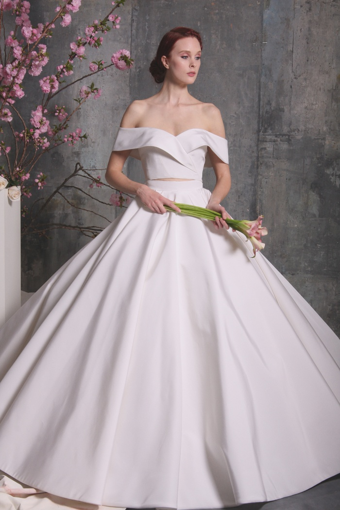 Wedding Dresses Photos - Two-Piece Ball Gown by Christian Siriano ...