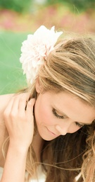 Katrina Hodgson wedding day beauty hairstyle