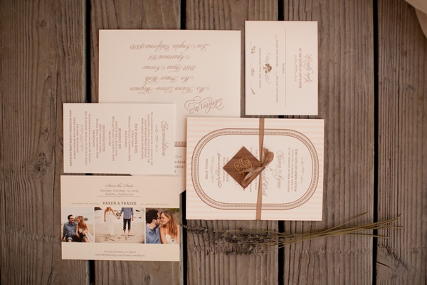 Wedding invitations and save-the-date cards