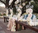 sweetheart table combined with head table wedding reception