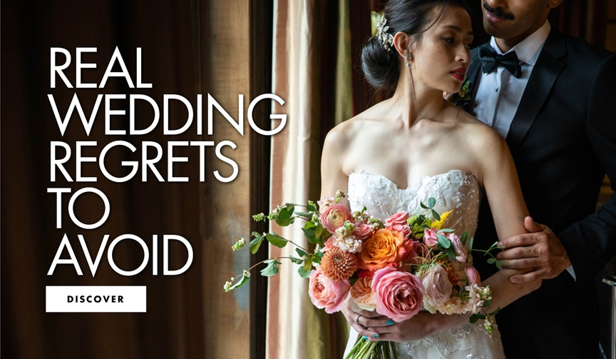 real wedding regrets to avoid wedding planning things couples would have done differently