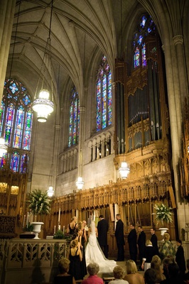 dramatic ceiling and stained glass windows of duke university chapel