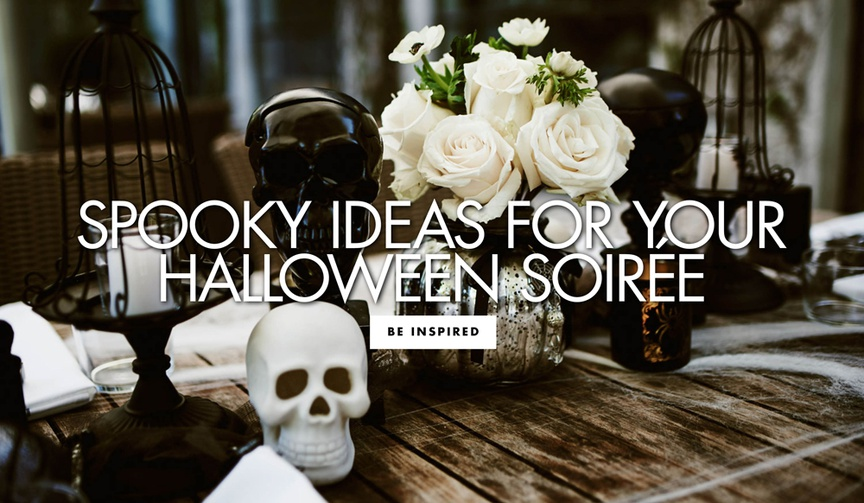 Be inspired to add spooky wedding décor details to your nuptials around Halloween!