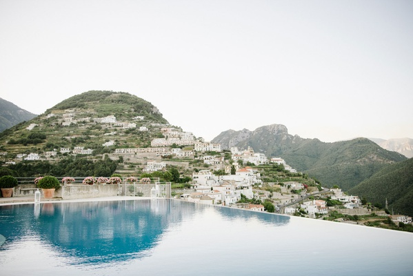 Destination wedding location with views of Italy mountains sea amalfi coast ravello italy