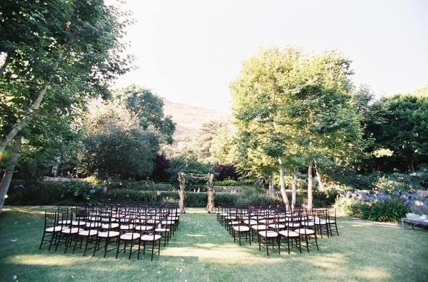 Wedding ceremony in a Malibu backyard