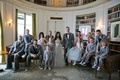Alexis Cozombolidis and Hunter Pence with bridesmaids, groomsmen, and flower girl ring bearers