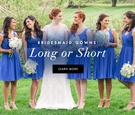 Long bridesmaid dress vs short bridesmaid dress ideas